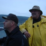 Boat Captain Troy and Boat Manager John Anderson