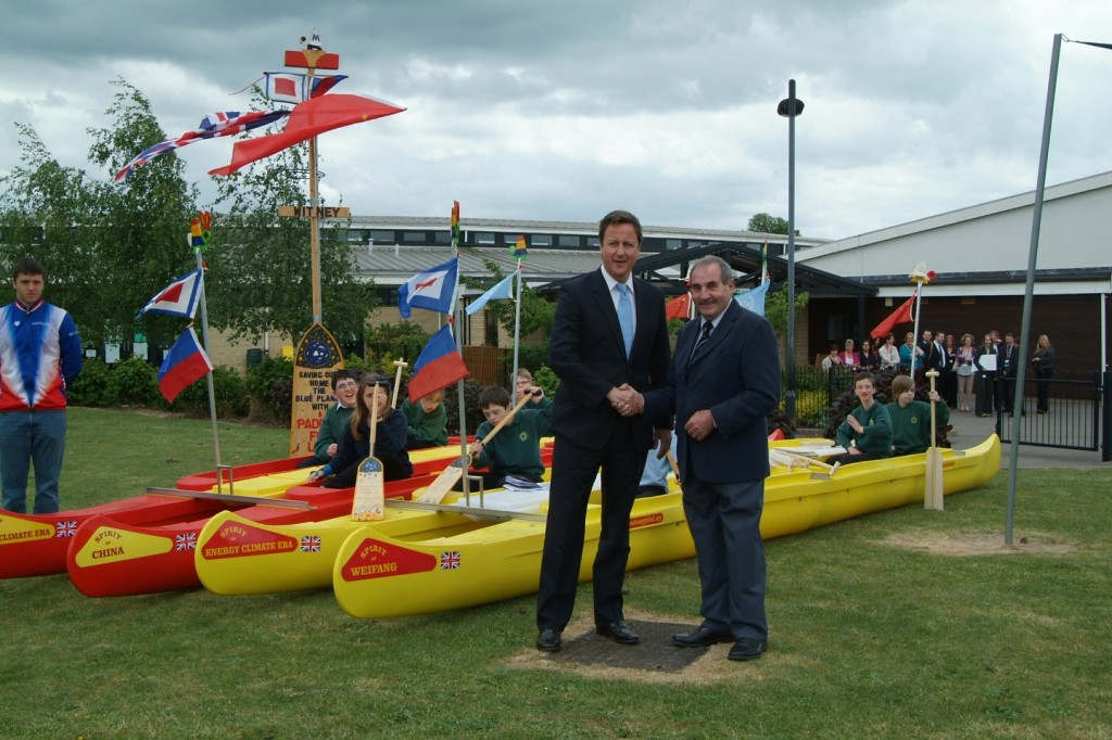 British Prime Minister David Cameron and David Train