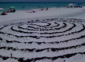 Anne Hornstein's labyrinth in Miramar Beach Florida