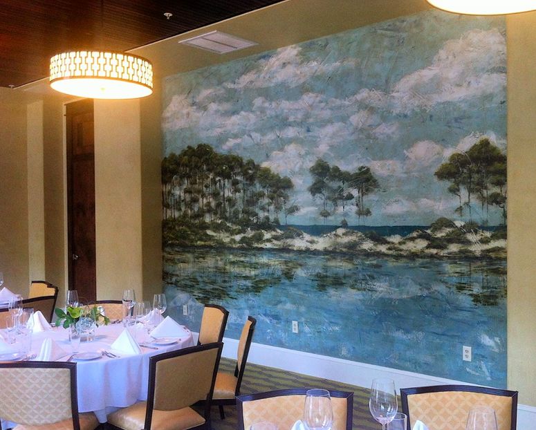 Allison Wickey Fresco Mural At The Pearl In Rosemary Beach_photo by Shelly Swanger