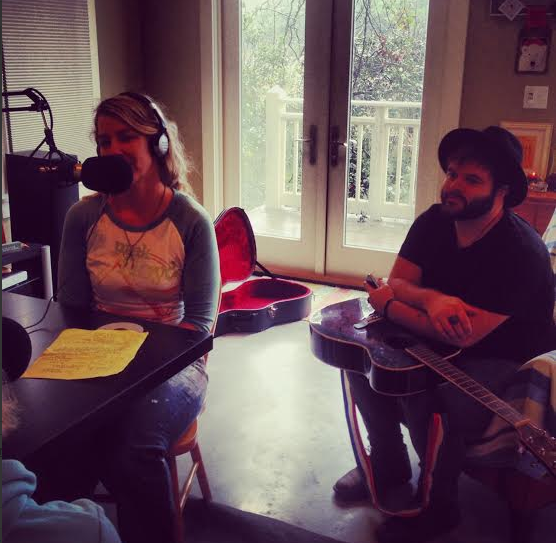 Artist Allison Wickey and Musician/Artist Cody Copeland In SUP Radio Studio