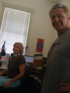 Bob Risner in the 30A Radio Studio with Leslie Kolovich 2010