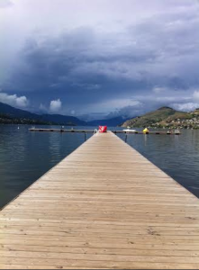 Dock at Lake Kalamalka Vernon, British Columbia