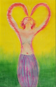 Soft Pastel Heart Energy Vision by Leslie Kolovich