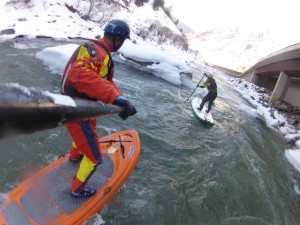 Ken Hoeve and Britney Parker on the Colorado River